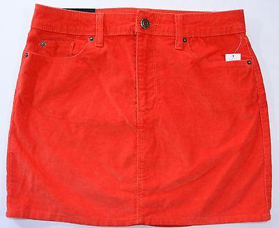Nwt Womens Corduroy Mini Skirt New Vermillion Choose Size 115998