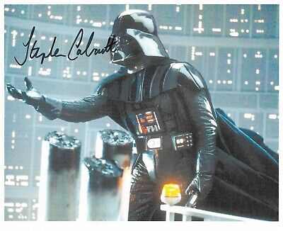 "Stephen Calcutt ""STAR WARS"" doubling for Darth Vader 10""x 8"" Signed 22091"