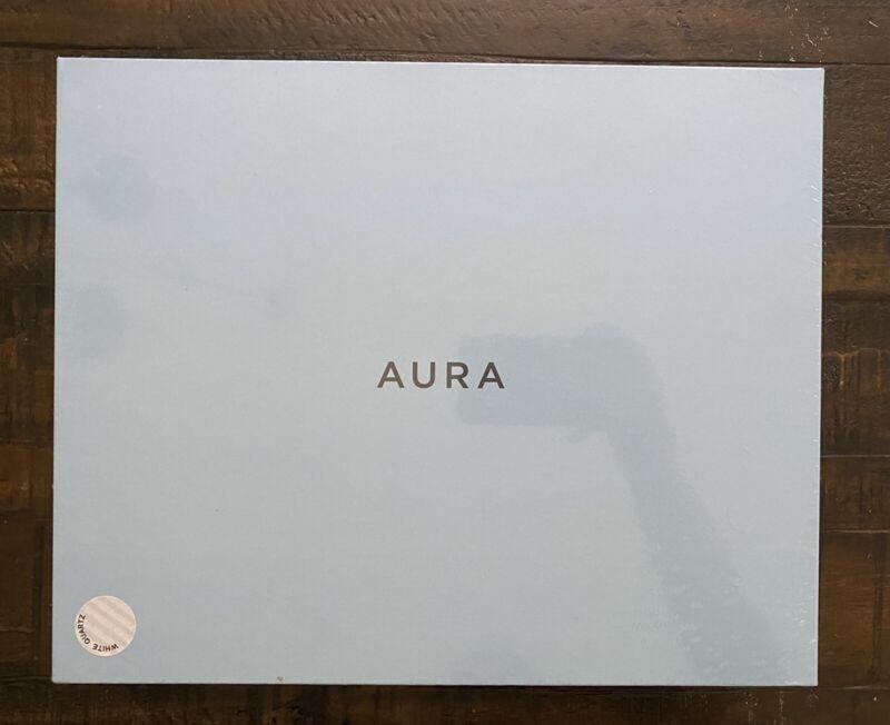 """New Aura Mason 9"""" Digital Photo Picture Frame - LCD WIFI SAF200-White Quartz"""