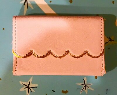 Stocking Stuffer Business Card Holder Available In Pink Or Black With Gold Appli