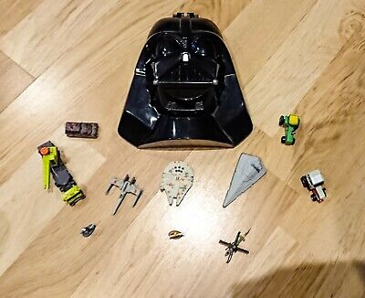 Star Wars Micro Machines Darth Vader Transforming Playset Galoob + random pieces