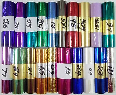 Kingsley Hot Stamp Stamping Foil - 20 Roll Sampler Pk - 3 X 10 - 70 Colors