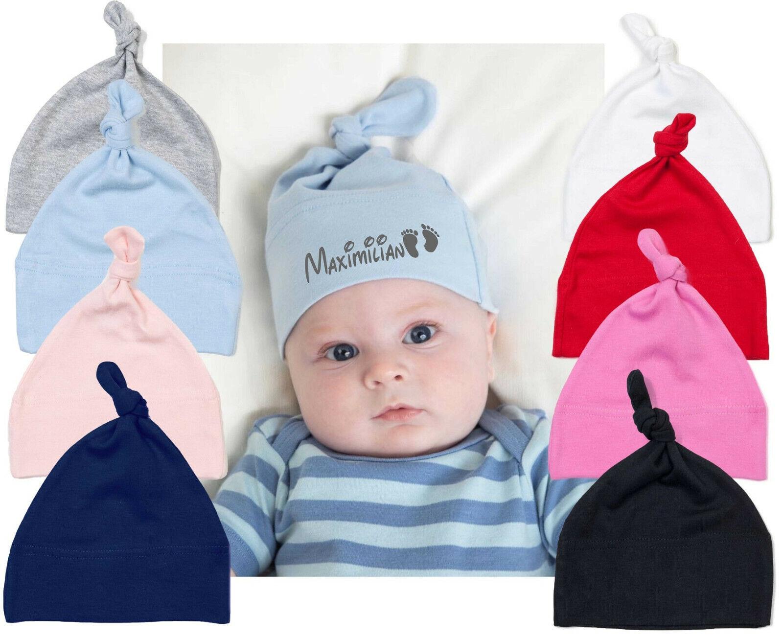 Babymütze BabyBugz Erstlingsmütze 0-18 Monate Mädchen Jungen Wunschnamen TOP WOW