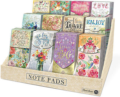 Punch Studio E8 Inspirational Large Pocket Note Pads   Various Designs