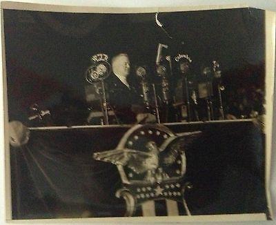 President Herbert Hoover gives speech before American Legion Detroit 1931 photo