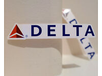 "#4780 Delta Air Lines Airlines Flight Plane Luggage Label 1x5/"" Decal STICKER"