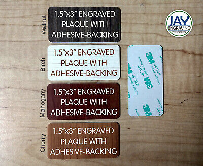 Custom Engraved 1.5 X 3inch Tag Woodgrain Finish Sign Plaque Plate Memory Of Urn