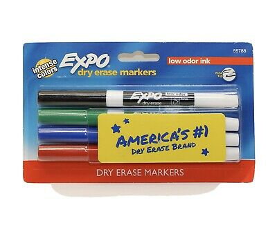 Expo Dry Erase Markers 4 Intense Colors Low Odor Ink Fine Tip Arts And Crafts