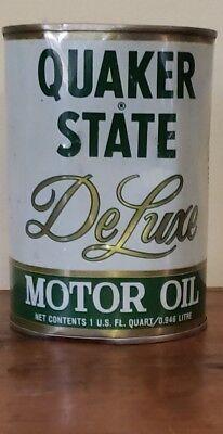 Used, Vintage Original Quaker State Deluxe Motor Oil Full Quart Composite Can  for sale  Minneapolis