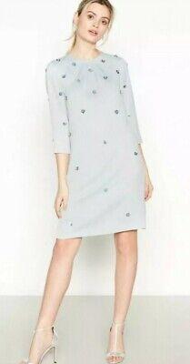 No. 1 Jenny Packham - Silver Embellished 'Frances' Knee Length Dress