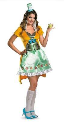 en's Sz S 4-6 Disney Alice In Wonderland Dress Costume Hat (Disney Mad Hatter Kostüm)