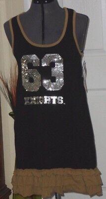 *UCF KNIGHTS KNIT DRESS SIZE S - M - L STRETCH BLACK BROWN SEQUINS NWT  (Knights Dress)