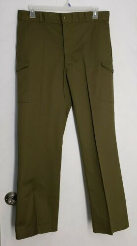 Vintage BSA Boy Scouts Of America Adult Green Uniform Pants 36W 30L