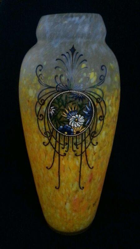 Monumental Legras French Art Glass Vase