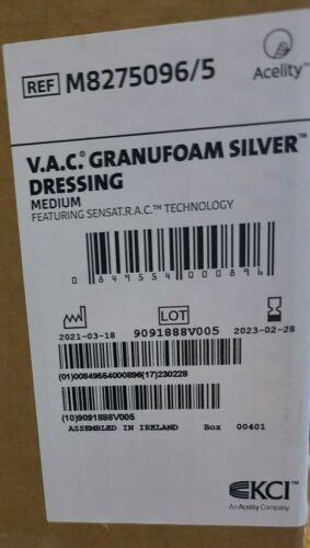 V.A.C. Granfoam Silver Dressing M8275096/5  02-2023 Exp. Medium