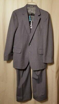 ANDHURST Custom Collection Men's Grey Pinstripe Suit 42R    FS8/
