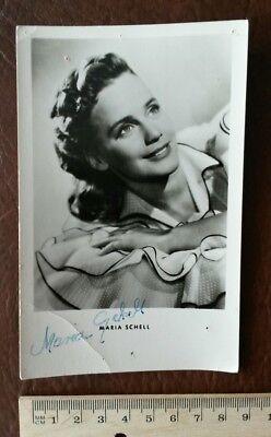Maria Schell Autogramm Autograph Autogrammkarte Foto Unterschrift Handschrift