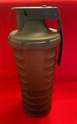 Water Sport Bottle Green Military Theme 600 Ml w/ Cup Plastic Canteen w/ -