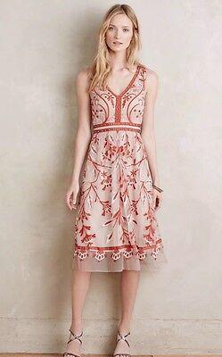 Anthropologie By Moulinette Soeurs Alicante Dress Sz 2  New