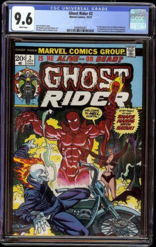 Ghost Rider # 2 CGC 9.6 White (Marvel 1973) 1st full appearance Daimon Hellstrom