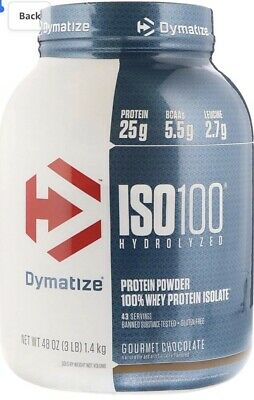 Dymatize ISO100 Hydrolyzed 100% Whey Protein Isolate Gourmet Chocolate - 3 lbs