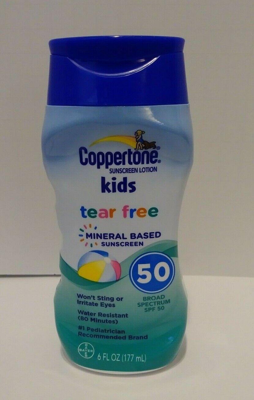 Coppertone Kids Tear Free Mineral Based SPF 50 Sunscreen Lot