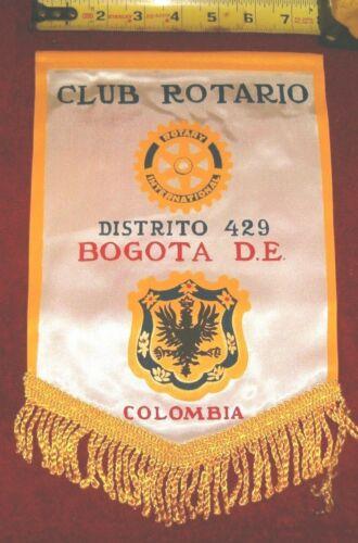VINTAGE Rotary International Club wall banner    BOGOTA     COLOMBIA