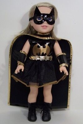 Halloween BATMAN or BATGIRL Costume Doll Clothes For AG 14