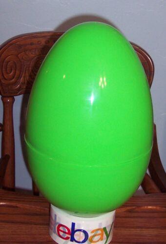 """Jumbo Mega 16"""" GREEN Plastic Surprise Prize Easter Egg NWOT"""