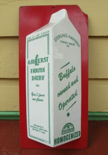 Buffalo NY Milk Bottle Carton Light-up Sign, Amherst Farm Dairy Snyder NY