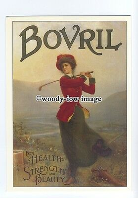 ad0496 - Bovril - Health Strenght & Beauty - Golf  -  Modern Advert Postcard