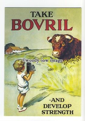 ad0502 - Bovril - Bull , Take Bovril & Develope Strenght  Modern Advert Postcard