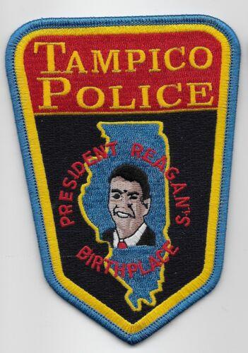 Tampico Police State Illinois Ronald Reagan patch NEAT