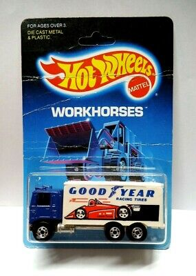 Hot Wheels Workhorses Good Year Hiway Hauler Unpunched & MANY Creases Protecto