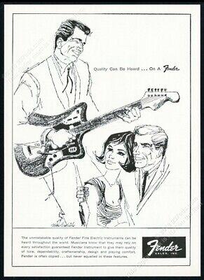 1962 Fender Jaguar guitar illustrated vintage print ad