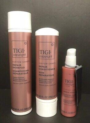 Care Repair - Tigi Custom Care repair shampoo 10 oz conditioner 8.5& repair booster.