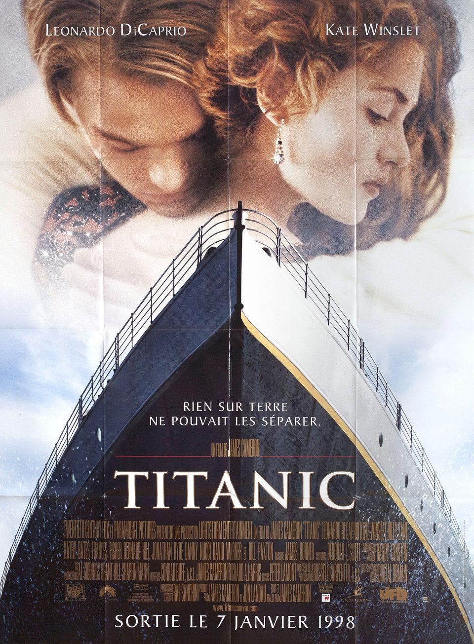Titanic 1997 french grande poster