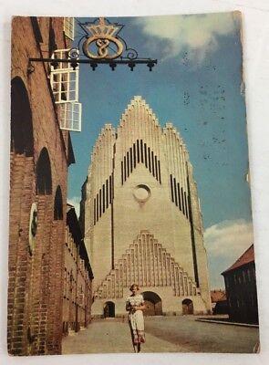 Vintage Postcard Grundtvg's Church at Bispebjerg Copenhagen Denmark 1959 Posted