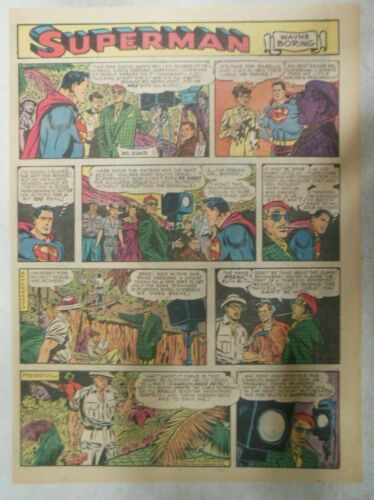 Superman Sunday Page #664 by Wayne Boring from 7/20/1952 Size ~11 x 15 inches