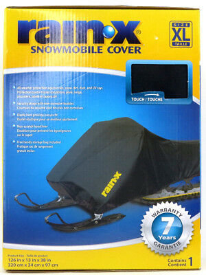 RAIN X Snowmobile Cover XL All Weather Protection 7 Year Warranty Black