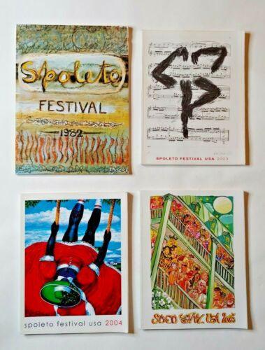 Set of 4 Spoleto Festival USA Programs:  1982, 2003, 2004, 2005