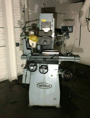 Mitsui Model Msg-200mh Surface Grinder Grinding Wheel Machine Sony Display