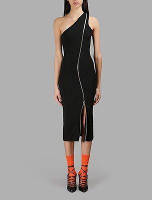 Givenchy Black One Shoulder Zipped Jersey Dress Size 42