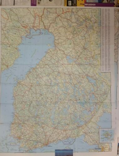 Finland & Northern Scandinavia Laminated Wall Map (K)
