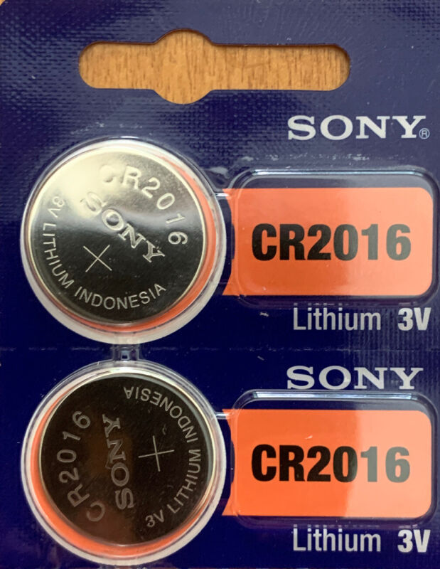 2- Cr 2016 Sony 2016 Lithium Batteries 3v Watch Exp.2029 Authorized Seller.