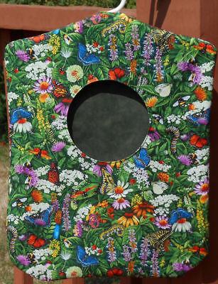 Clothes Pin Bag Holder Flower Garden Floral Butterflies Handmade Laundry Peg - Clothespin Butterfly
