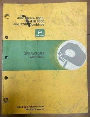 John Deere 6600sidehill 66007700 Combines Operator Manual Om-h92873 K-2