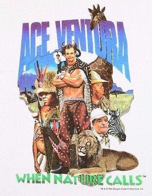 S * NOS vtg 90s 1994 ACE VENTURA movie t shirt * pet detective * AVYL