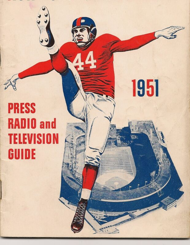 1951 New York Giants Media Guide!!
