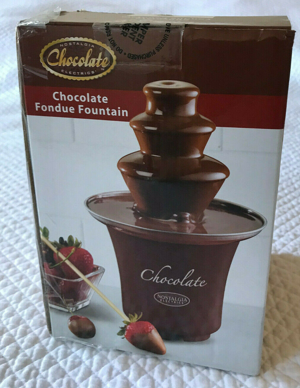 Mini Chocolate Fondue Fountain by Nostalgia Chocolate Electr